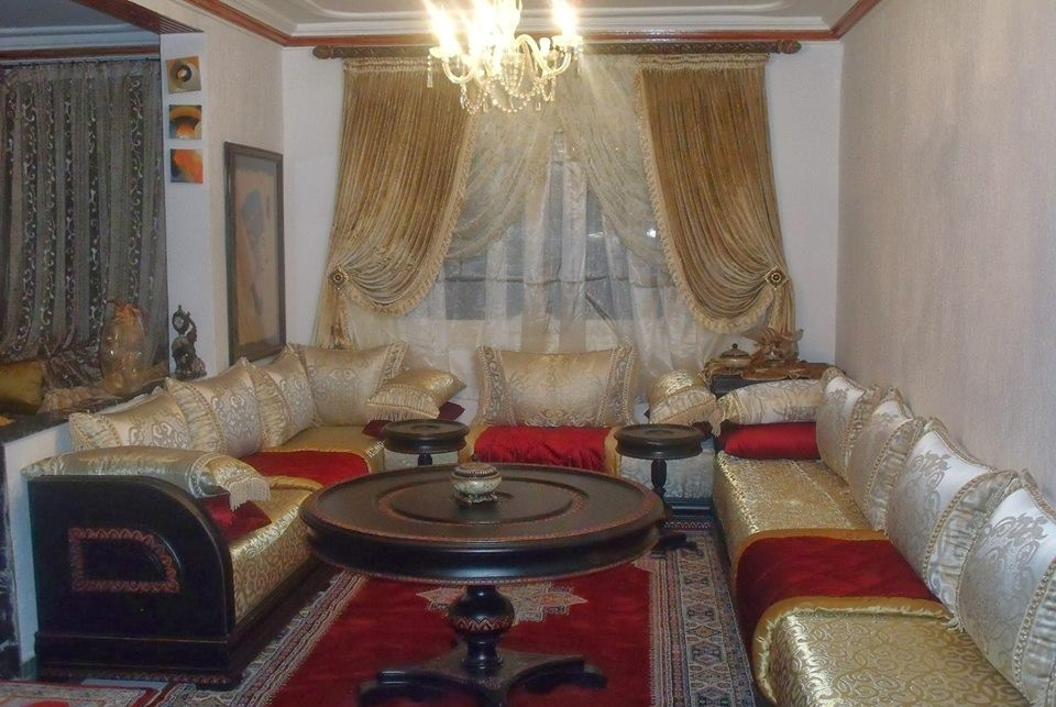 Tissus marocains pour salon moderne confortable - Déco Salon Maroc