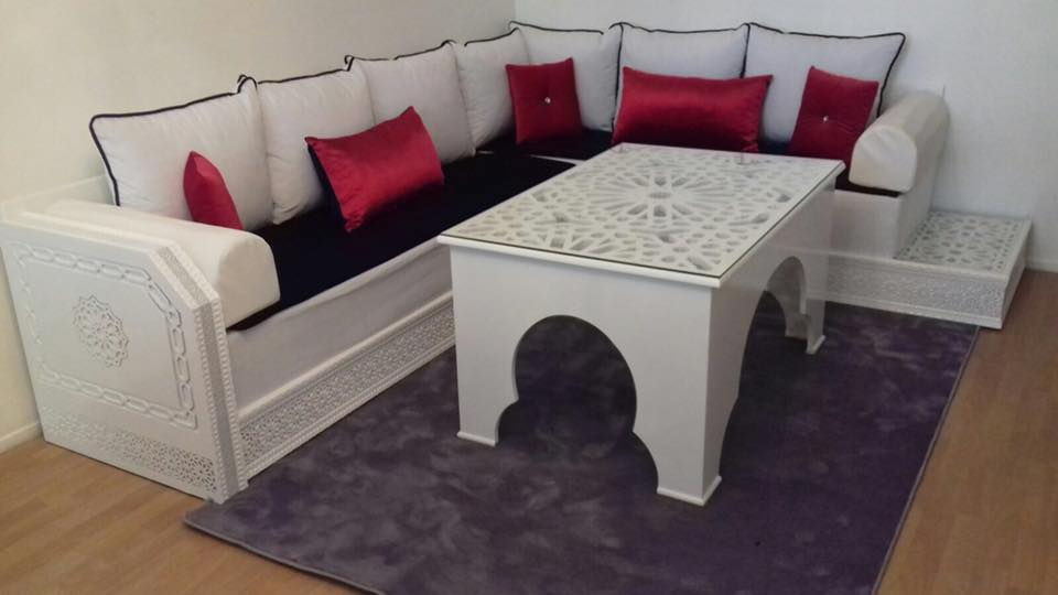 Banquettes salon marocain moderne 2019 - Déco Salon Maroc