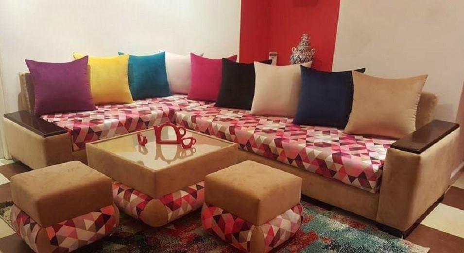 Maroc Poufs Salon pour salon Déco marocain oCBrxhQtsd