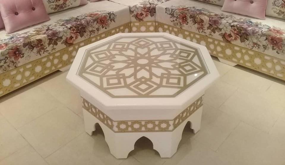 Table en bois pour salon Archives - Déco Salon Maroc